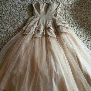Tulle princess style prom dress